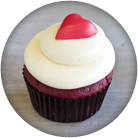 southern red velvet filled cupcake